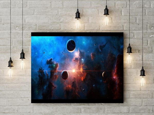 Artwork Space With Planets 1