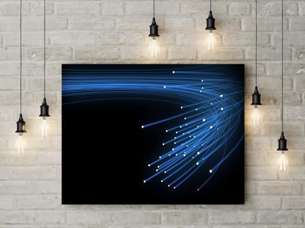 Blue Optical Fiber 1
