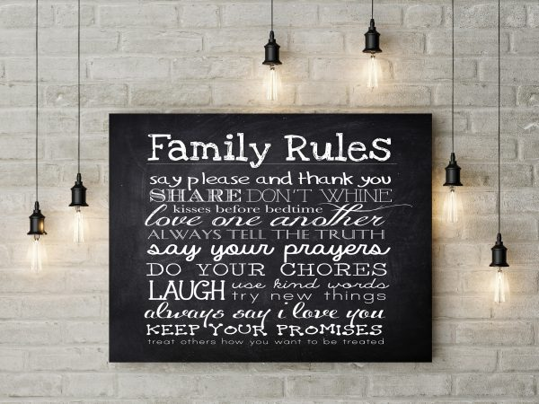Chalkboard Family Rules 1