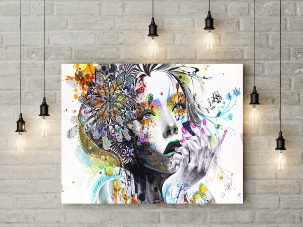 Girl Abstract Painting 1