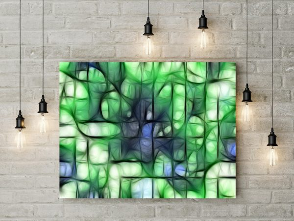 Green Abstract Grid 1