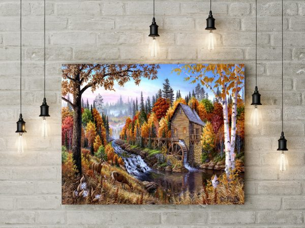 Home In The Forest Painting 1