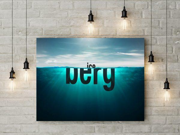 Iceberg Typography 1