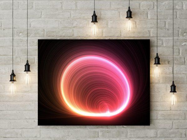 Light Circles Waves 1