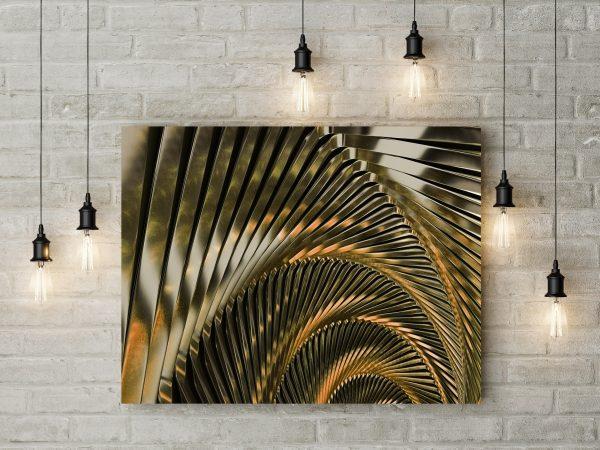 Metal Gold Spiral 1
