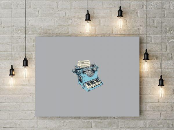 Piano Typewriter Music Artwork 1