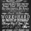 Chalkboard Family Rules 4
