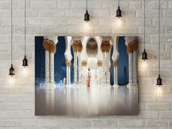Abu Dhabi Inside Sheikh Zayed Mosque 1