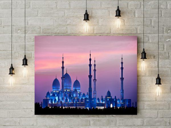 Abu Dhabi Sheikh Zayed Mosque During Night 1