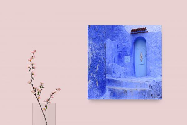Blue Door In Morocco 1