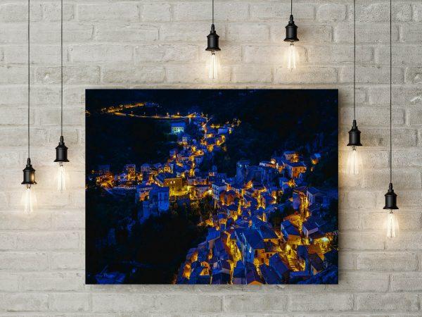 Castelmezzano Italy During Night 1