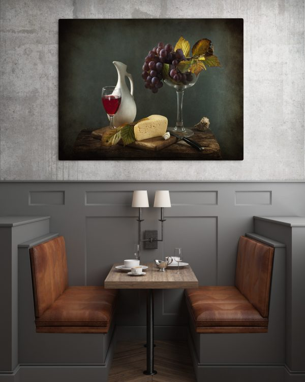 Cheese Grapes And Wine 1