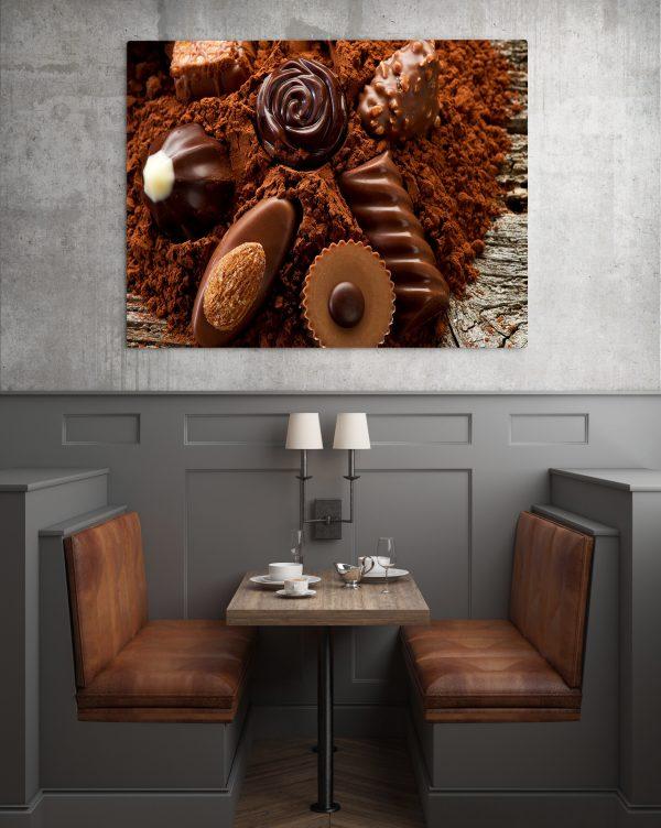 Chocolates On Chocolate Powder 1