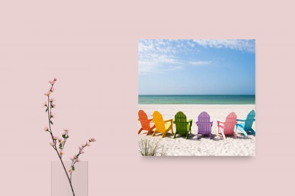 Colorful Chairs On Beach 1