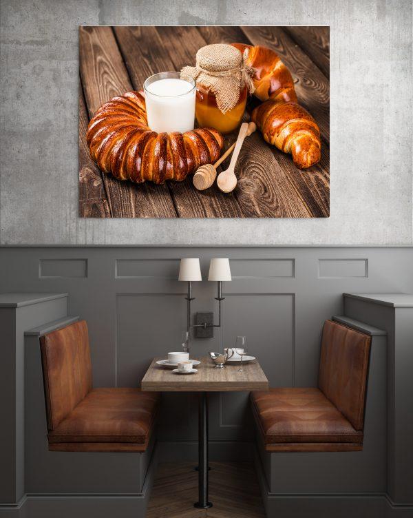 Croissant And Milk 1