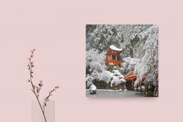 Daigo-Ji Temple Kyoto Japan Snowing 1