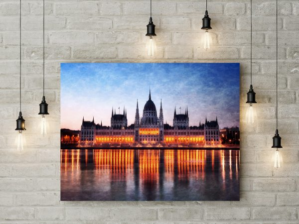 Hungary Budapest Parliament Building From Danube River 1