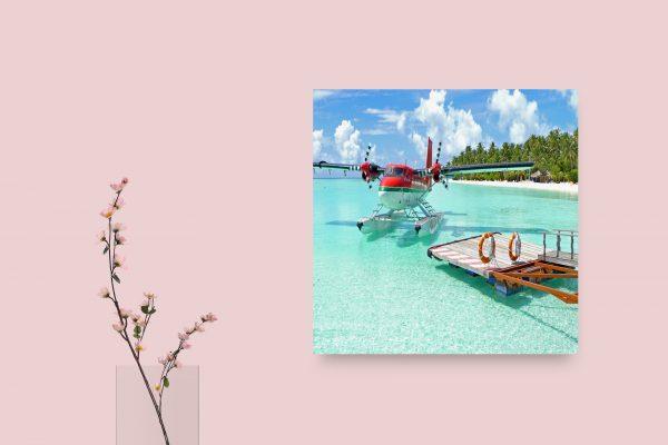 Hydroplane On Tropical Beach 1