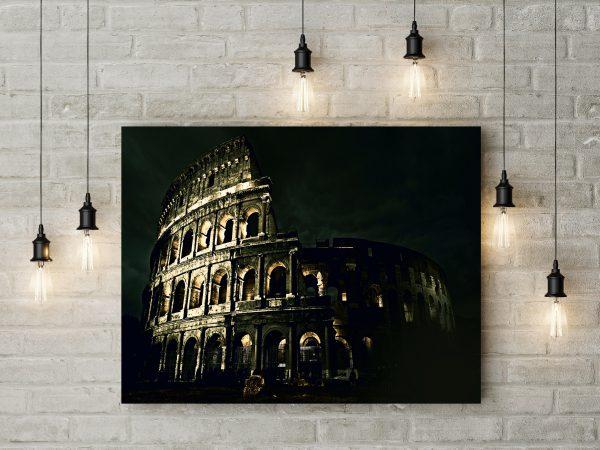 Italy Night Colosseum Architecture 1