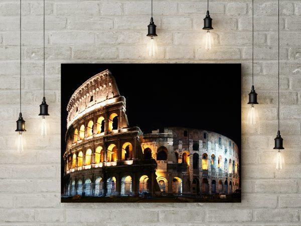 Italy Rome Colosseum Night 1