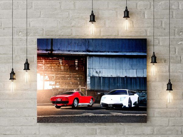 Lamborghini Miura S & Lamborghini Murcielago LP670 SV 1