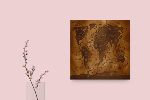 Opposite World Map 1