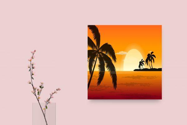 Orange Sunset Painting 1