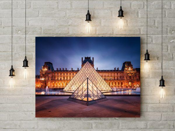 Paris France Louvre Pyramid 1