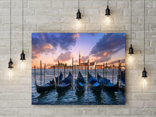 Parked Gondolas In Venice 1