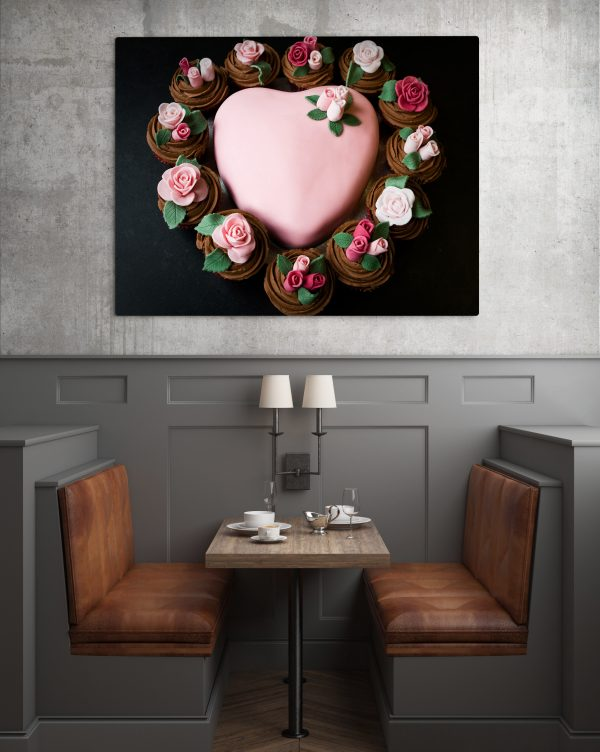 Pink Cake With Flowers 1