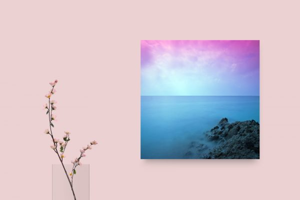 Pink Sky Above Blue Sea 1