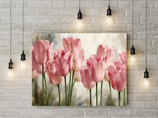 Pink Tulips Painting 1