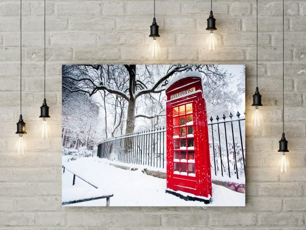 Red Phone Booth In Winter London 1