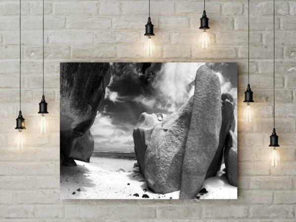 Rocks On The Beach Monochrome 1