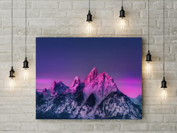 Snowed Mountains In Pink 1