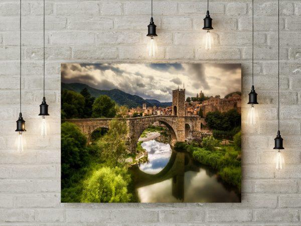 Spain Catalonia Fluvia River Bridge 1