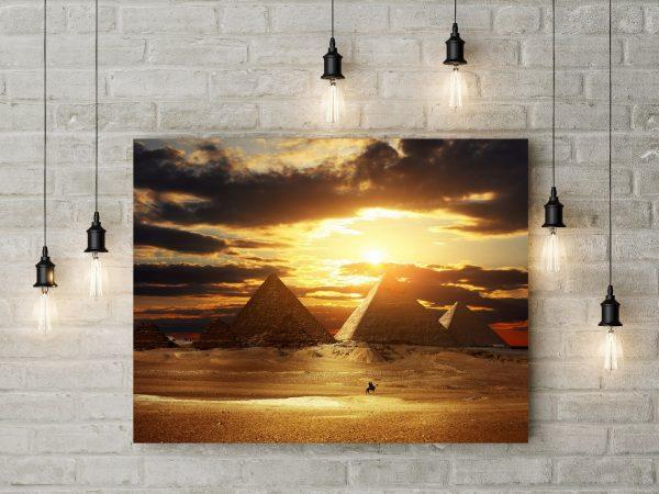 Sunset At Pyramids Egypt 1