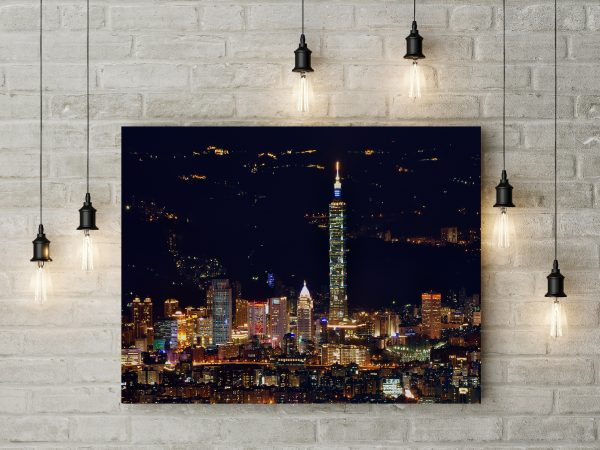 Taipei Skyscrapers Night City 1