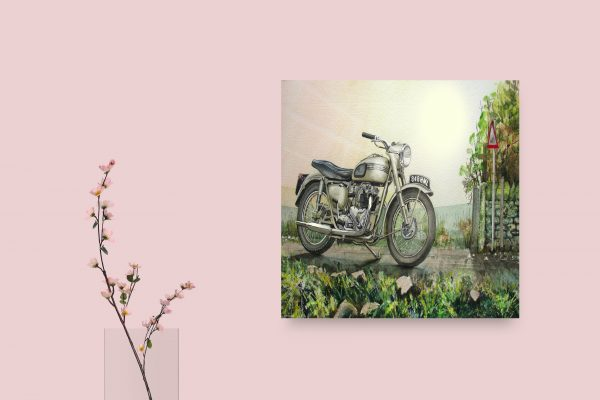 Triumph Motorcycle Drawn 1
