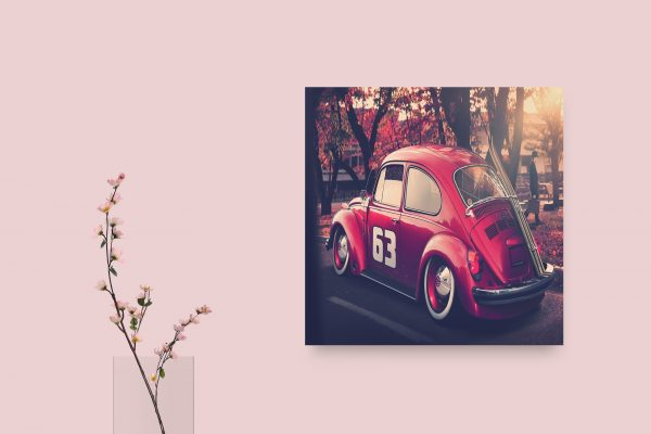 VW Beetle Red 1
