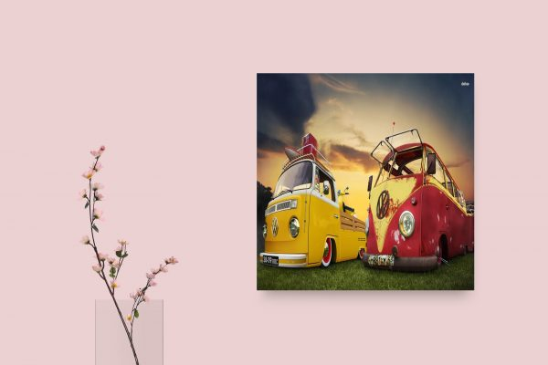 VW Van, Red Ande Yellow 1