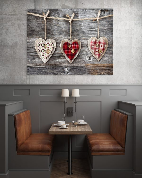 Wooden Handcraft Hearts 1
