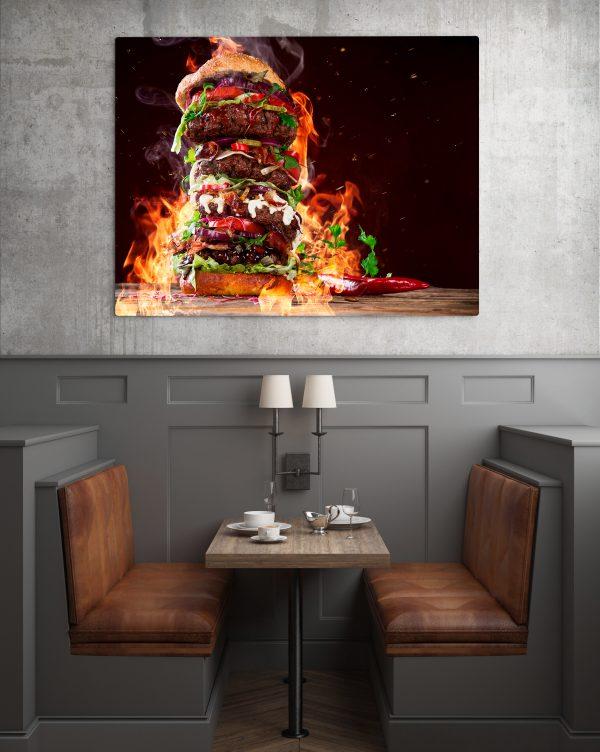 XXL Burger On Fire 1
