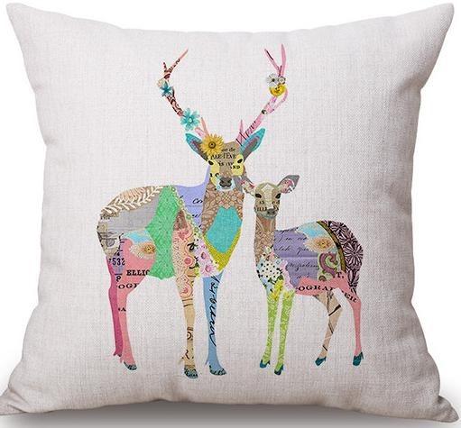 Linen Cushion Cover Deer 1