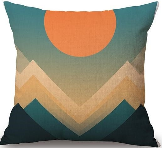 Linen Cushion Cover Sunset 1