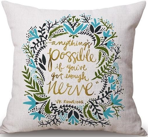 Linen Cushion Cover Anything's Possible 1