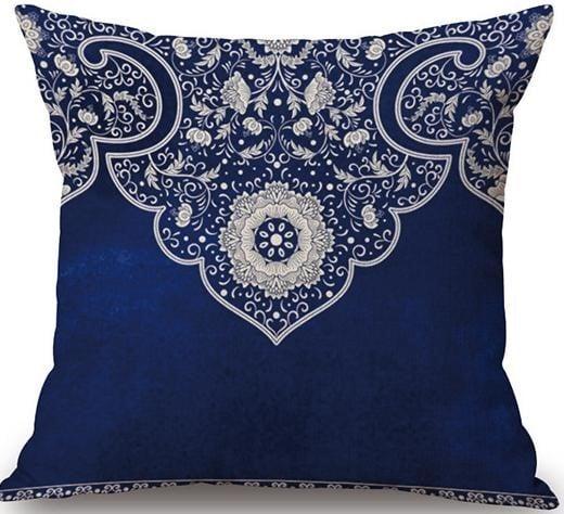 Linen Cushion Cover Blue 1