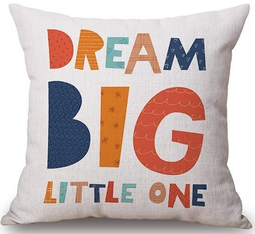 Linen Cushion Cover Dream Big 1