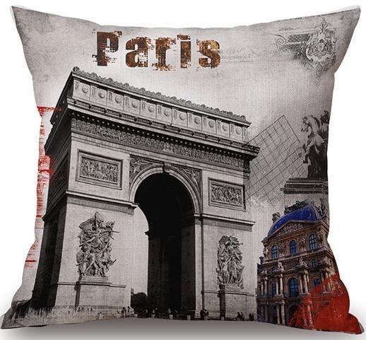 Linen Cushion Cover City Paris 1
