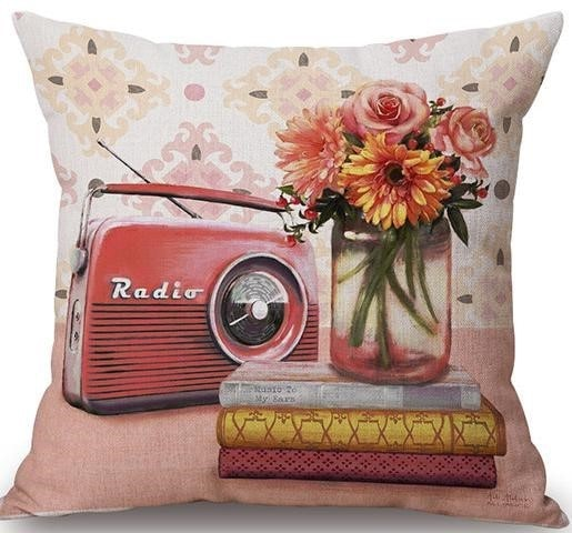 Linen Cushion Cover View Radio 1